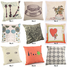 "18"" Vintage Square Home Decor Cushion Cover Throw Pillow Case Back Sofa"