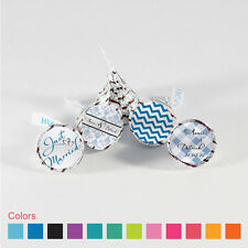 108 Sets Custom Hershey Kisses Wedding Labes Wrappers Small Candy Stickers