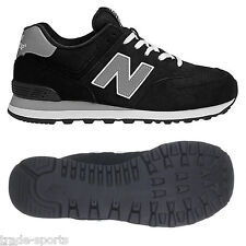 NEW BALANCE MENS 574 SIZE 7 8 9 10 11 12 MOD TRAINERS SHOES RUNNING BLACK CASUAL