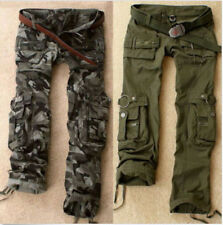 New Women's Military Army Green Camo Cargo Pocket Pants Leisure Outdoor Trousers