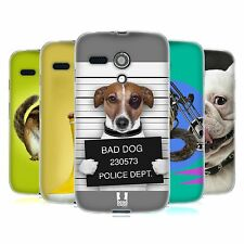 HEAD CASE FUNNY ANIMALS GEL BACK CASE COVER FOR MOTOROLA MOTO G