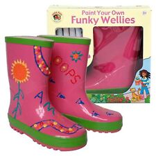 Little Pals Paint Your Own Creative Wellington Boots Childrens Girls Pink