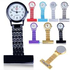 Best Brand Vintage Silver Stainless Steel Nurses Pocket Quartz Fob Watch TR