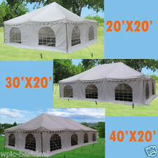 PVC Pole Tent - 3 sizes available for choose-- 20'x20' / 30'x20' / 40'x20' White