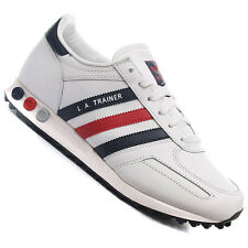 Adidas Originals LA WHITE/RED/BLUE TRAINERS UK 7 -12