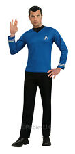 Adult Licensed Star Trek Blue Shirt Mens Fancy Dress Stag Party Costume Outfit