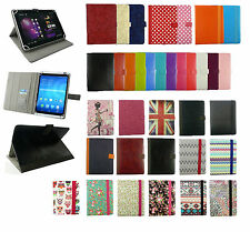 """Stylish Universal Wallet Case Cover Stand fits Hipstreet W7 Windows7""""Inch Tablet"""