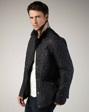 Burberry Brit men's lightweight black diamond quilted jacket size small