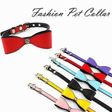Dog Cat Collar Cute Bowknot Pet Necklace Puppy Collar Fashion Pet Supply 6 Color