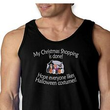 My Christmas Shopping Is Done Funny T-shirt Holiday Humor Men's Tank Top