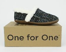 Toms Women's Blue Boucle Slippers
