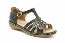 Ladies K by Clarks Ruth Elana black leather sandals E wide Fitting