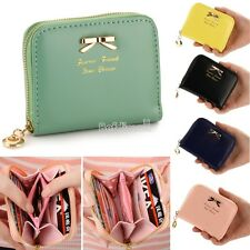 Lady Colorful Lovely Purse Clutch Women Wallets Small Bag PU Leather Card Hold