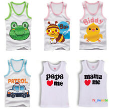 New Baby Kid Toddle Child Boy Girl Cotton Vest Top sleeveless Singlet Waistcoat
