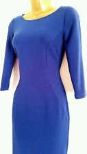 NEW M&S MARKS & SPENCER COLLECTION Panelled Ribbed Blue Bodycon Shift Dress 6-22