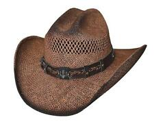 NEW Montecarlo Bullhide Hats OUT OF THE RANGE Toyo Straw Western Cowboy Hat NWT