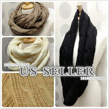 us seller-NEW Women Winter Fashion Knit Cable Infinity Scarf- Beautiful&Soft!