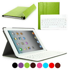 Leather Case Cover With Removable Bluetooth Keyboard for iPad 2/3/4 GF Gift