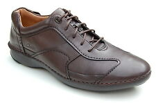 Clarks Mens Casual Active Air Shoes Rush Time Brown Leather