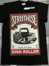 """Streetwise """" PLAY TO WIN """" Black All Sizes 100% Cotton Graphic Tees"""