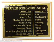 WEATHER FORECASTING STONE BLACK & GOLD - PRINTED DECAL STICKER - CHOICE OF SIZES