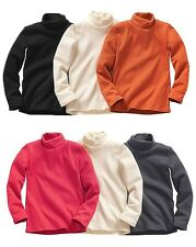 Boys Roll-neck Turtle-neck polo T-shirt Top  Different Colours ex-store 3-12Yrs