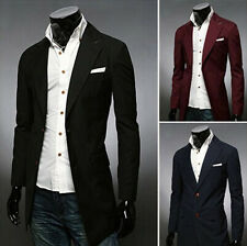 New Arrival Mens Casual Two Button Slim Fit Stylish Fashion Suits Coats Hot Sell