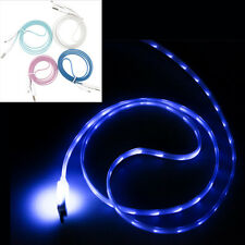LED Visible Light Android Micro USB Charge Data Sync Cable for Samsung Sony HTC