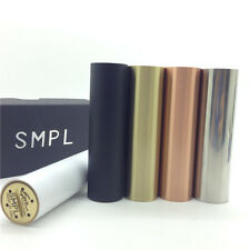 SMPL 18650 Mechanical Mod Clone Vaporizer Black Brass Copper Stainless White Tif