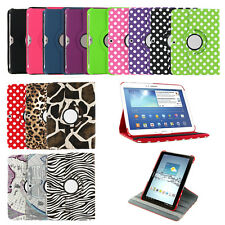 "360 Leather Case Cover Stand Samsung Galaxy Tab 3 / 4 7"" T230 8"" T330 10.1"" T530"