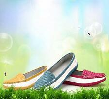 Embossing Pu Leather Women Ladies Loafer Flat Soft Sole Round Toe Slip-On Shoes