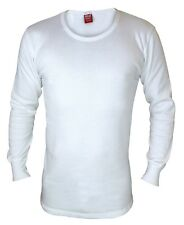 Mens Genuine Heat Holders Thermal Long Sleeved Vest Top All Sizes White