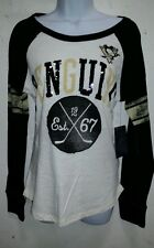 Womens ladies Pittsburgh Penguins NHL long sleeve shirt top new (S, M, L,XL)