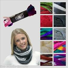 KING COLE HALO - NO KNIT SNOOD OR KNIT & CROCHET SCARF & COLLAR - FREE PATTERN