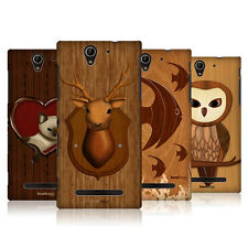 HEAD CASE DESIGNS WOOD CRAFT CASE COVER FOR SONY XPERIA C3 DUAL D2502