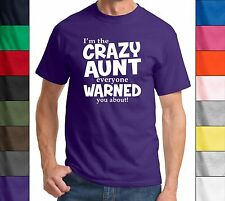 Crazy Aunt Everyone Was Warned About Funny T Shirt Cute Holiday Gift For Aunt