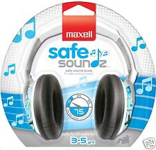 Maxell Safe Soundz Headphones - Safe Sound Children's OverEar Stereo Head Phones