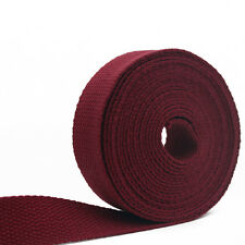 "10 Yards Cotton Woven Tape Webbing Strap Ribbon Roll Handbag Home Decors 1"" wide"