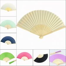 30pcs* Bamboo Silk Fan Hand Folding Fans Outdoor Wedding Party Favors Gifts