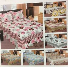 Reversible Quilt Bedspread set w/Pillow Sham(s) Full/Queen, King, Cal-King, Twin