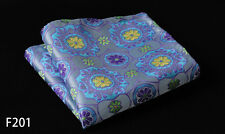Floral Paisley Men Silk Satin Handkerchief Pocket Square Hanky Wedding Party