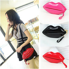 Fashion Sexy Women Lady Evening Party Lip Clutch Chain Shouder Bag Purse Satchel