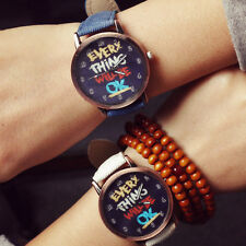 New Cheap Girls Boys Watch Wristwatches Denim PU Leather Cotton Quartz Watches