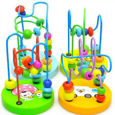 New Children Kids Baby Colorful Wooden Mini Around Beads Educational Game Toys