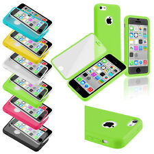 TPU Wrap Up Phone Case Cover with Built In Screen Protector For iPhone 5C