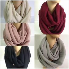 WHOLESALE Solid Infinity Scarves for Fall Winter lot of 6 or 12 Shawl