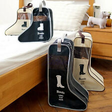 Long Riding Rain Ankle Boots Leather Shoes Ugg Storage Bag Organizer Case Travel
