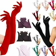 Ladies Long Stretchy Stain Wedding Party Evening Prom Sunscreen Finger Gloves