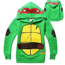 Teenage Mutant Ninja Turtles Kids Boys Tops Hoodie Sweatshirt Clothes 3-8Y CA