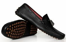 Lacoste Men's Leather Loafers Concours Tassle Black 728SRM0086 024 New Authentic